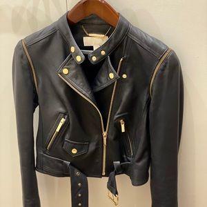Like New Michael Kors leather jacket Small